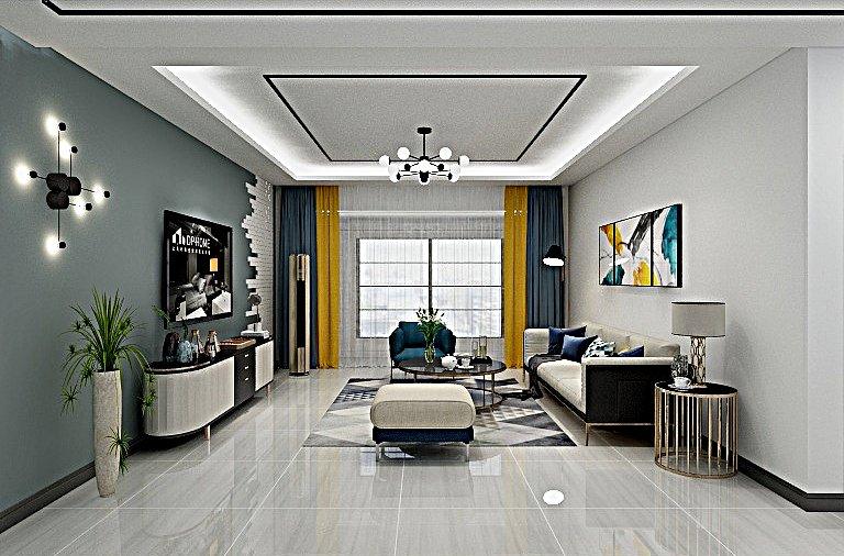 软包背景墙材质柔软,色彩柔和,软化整体空间氛围
