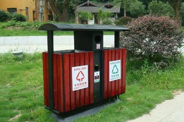 甘肃钢木垃圾桶