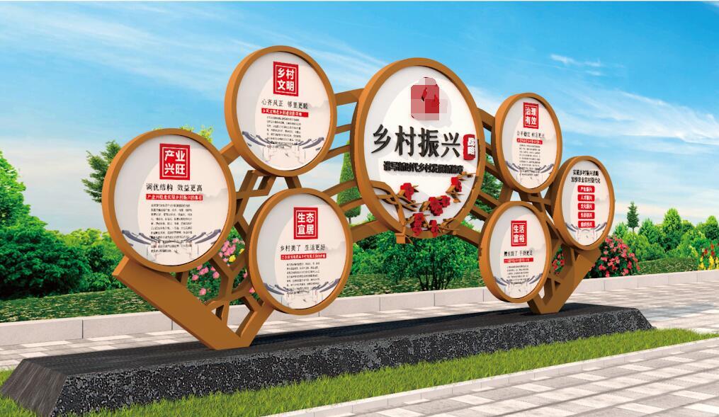 甘肃兰州定西美丽乡村建设振兴宣传系列标识标牌制作