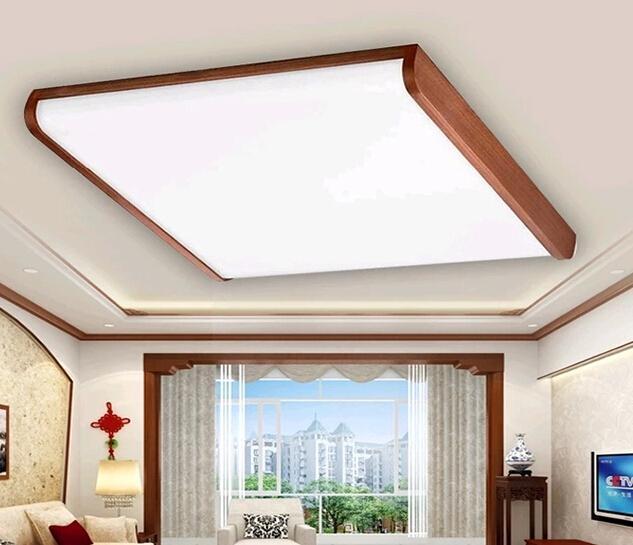 客廳臥室燈中式木框馨悅吸頂燈