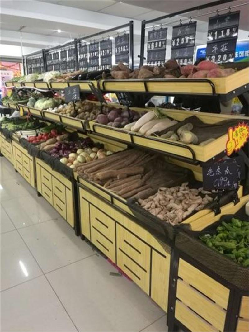 某超市生鲜货架案例展示