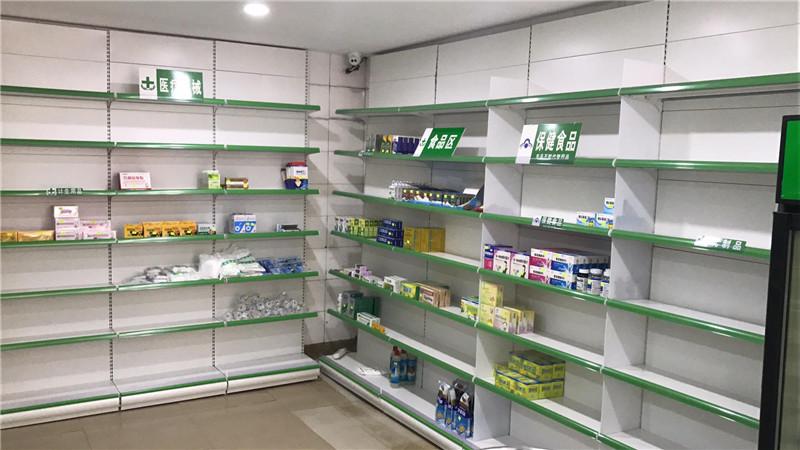 药店货架成品展示图