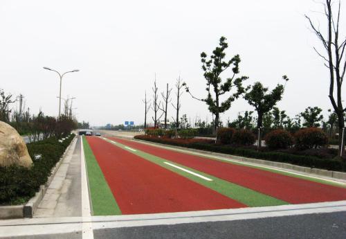 甘肅道路標線施工-彩色路面