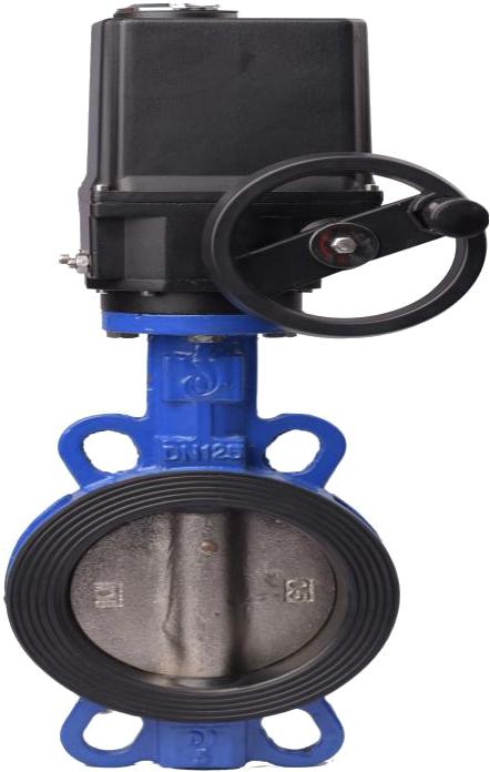 JLBD971X-16Q 电动涡轮对夹蝶阀