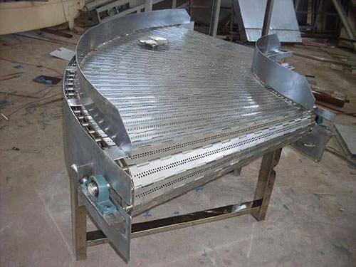 不锈钢链板转弯机
