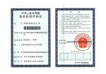生产者组织机构代码证