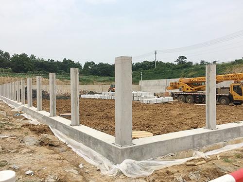 生态混凝土护坡-变电站现场施工图