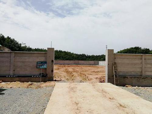 随州曾都涢水110KV新建工程项目现场