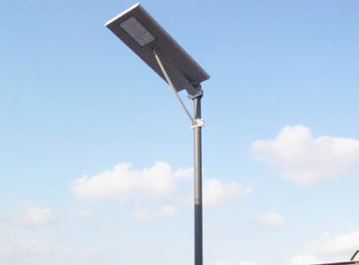 一体化太阳能路灯蓄电池安装