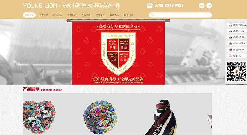 东莞盈联实业网站建设已成功上线