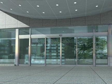 不锈钢玻璃门装置