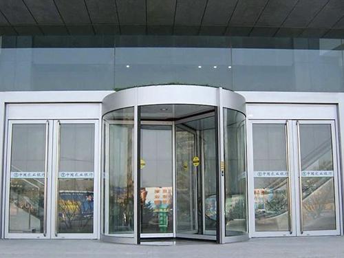 旋转门-手动三翼铝型材旋转门