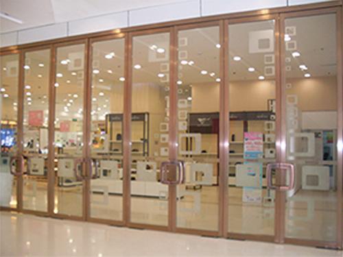 陕西玻璃自动门-重叠门