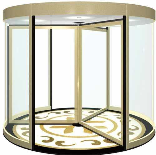 陕西玻璃自动门-豪华自动型材弧形门