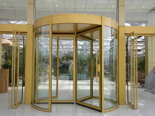 玻璃自动门-手动三翼型材旋转门