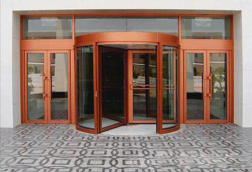 玻璃自动门-手动旋转门