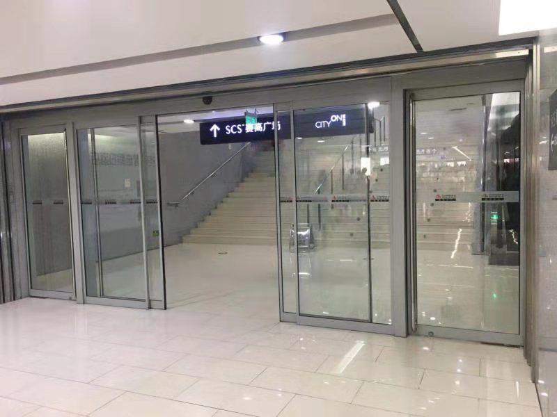 玻璃自动门案例-赛高广场