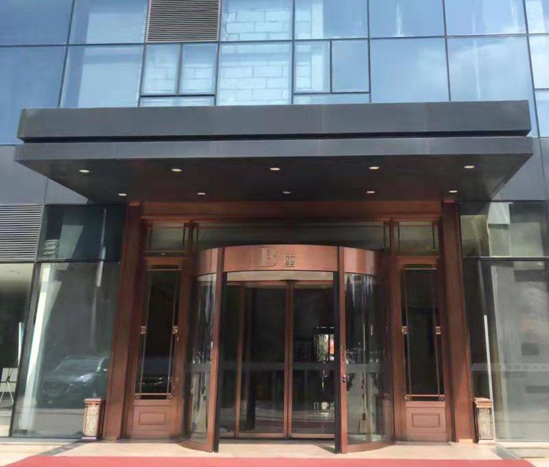 玻璃自动门案例-长庆油田矿区事业部兴隆园物业服务处自动门