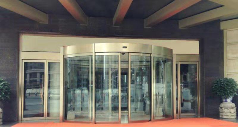 陕西玻璃自动门案例-福邸酒吧