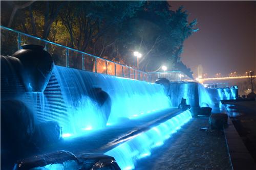国窖1573瀑布喷泉合作