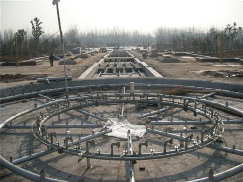 四川喷泉施工现场