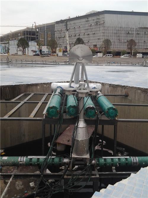华商城旱式音乐喷泉施工现场