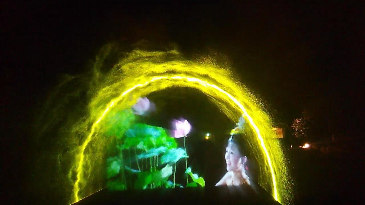 激光水幕投影