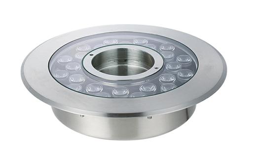 四川音乐喷泉-LED不锈钢中孔地埋彩灯