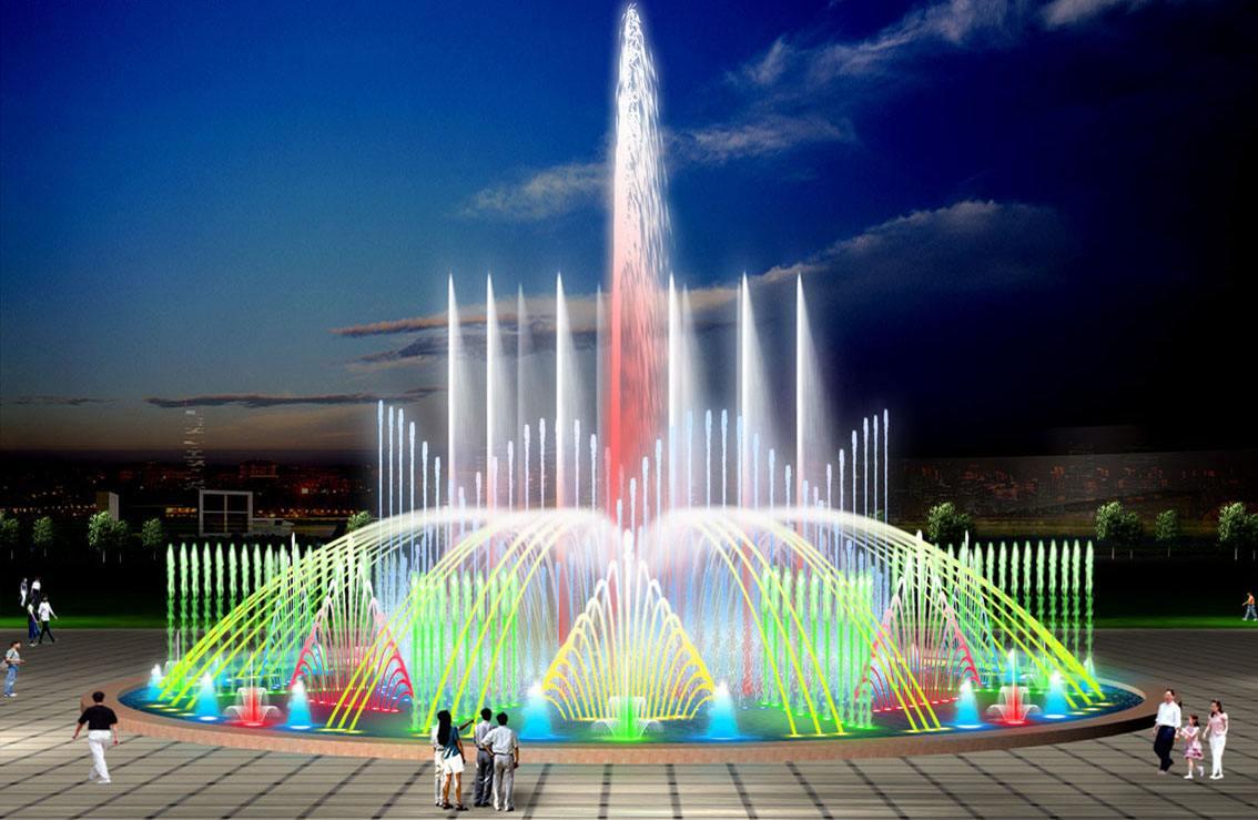 四川音乐喷泉效果图