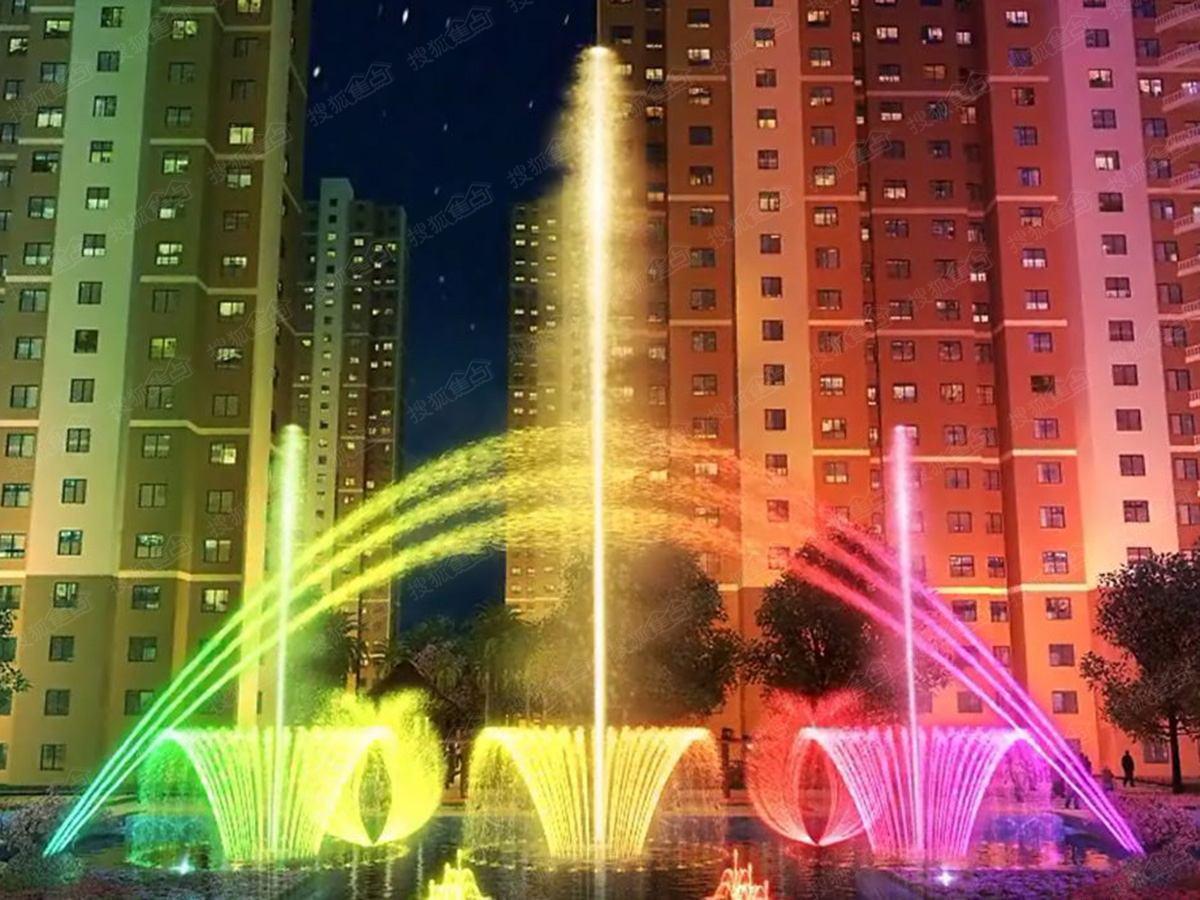 四川人工湖喷泉