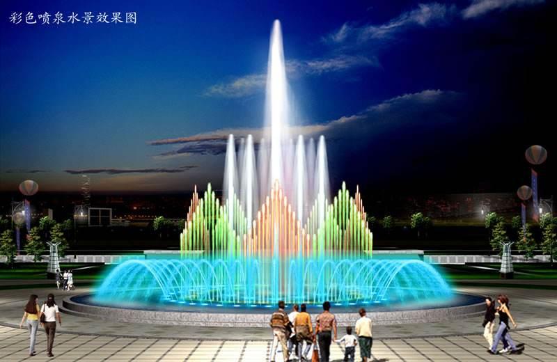音乐喷泉效果图
