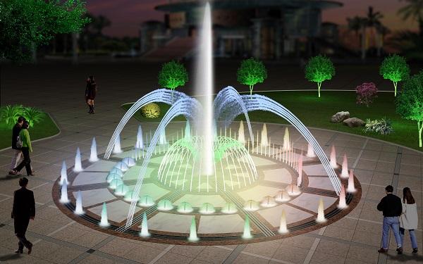 四川旱喷泉效果图