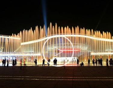 湖北文化中心喷泉实景视频