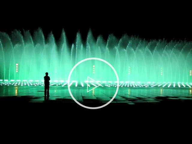 泸州音乐广场旱喷泉实景视频
