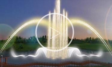 四川漂浮式喷泉动画