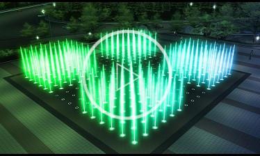 四川广场矩阵喷泉动画