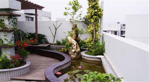 成都屋顶花园施工