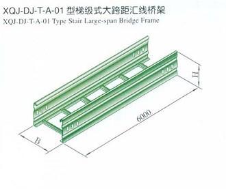 四川大跨距式电缆桥架(梯式大跨距直通)