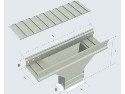 四川槽式电缆桥架(上边垂直等径三通)
