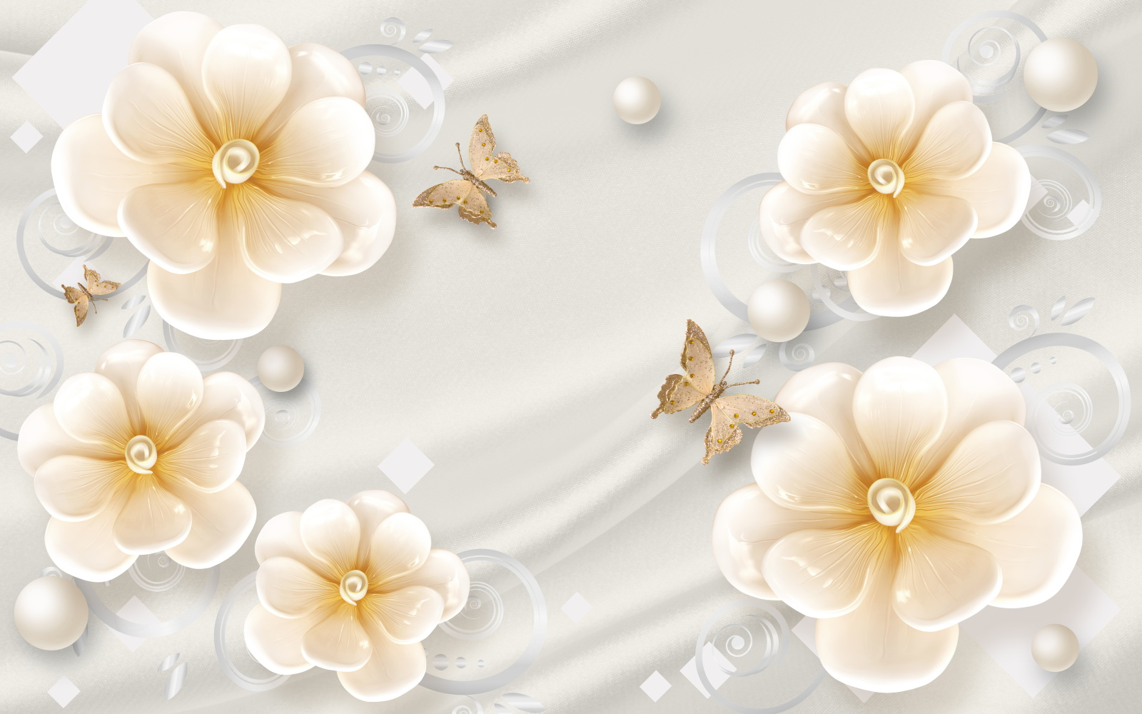 内蒙古背景墙——花朵