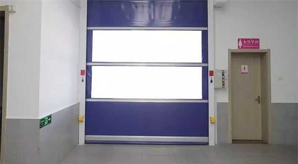PVC快速卷帘门透视窗高速门