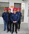 耀杰集團常務副總張軍文對天馬礦業淮河店鐵礦開采工程進行檢查