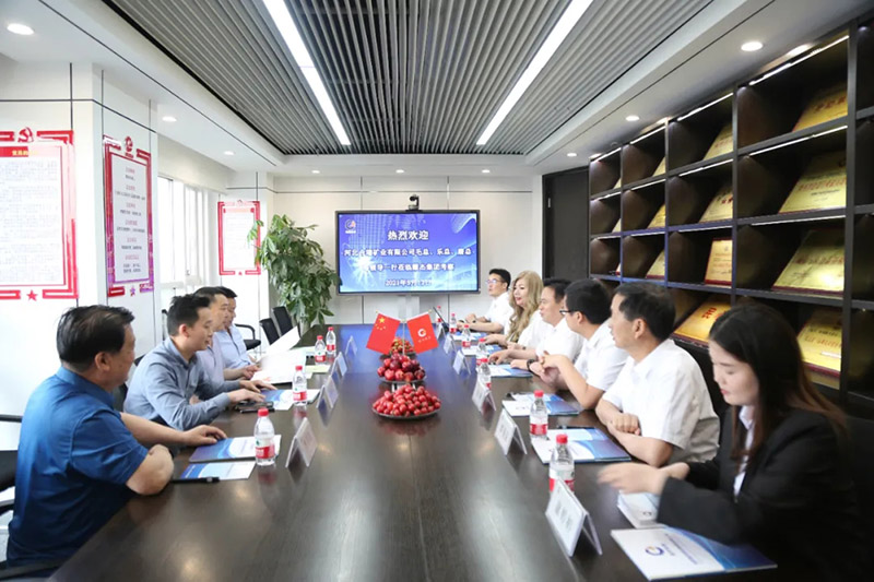 河北合瑞矿业有限公司毛总、乐总、唐总等领导一行莅临耀杰集团考察
