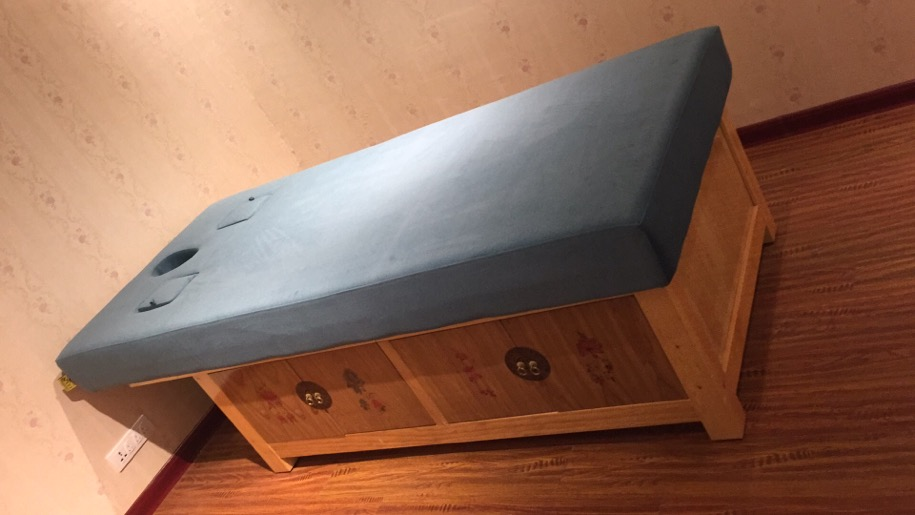 中式实木SPA床