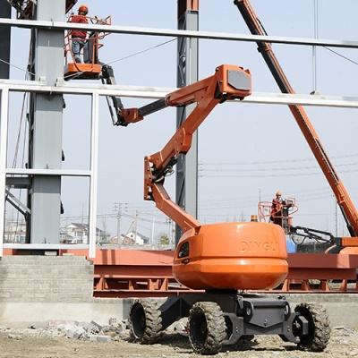 某电缆公司的曲臂式高空作业平台工作中
