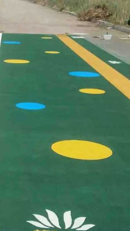 成都彩色防滑路面施工方法
