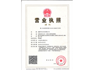 四川醋酸甲酯公司營業執照