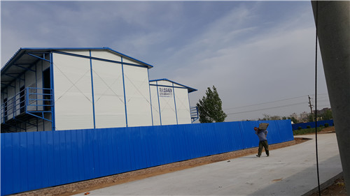 河南彩板活动房-郑州高新区欢河村安置区工地项目部