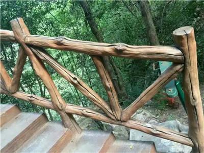 水泥仿木栏杆造型