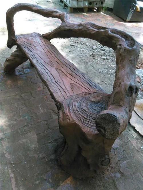 西安水泥仿木凳子